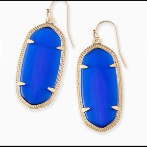 Kendra Scott Elle Earrings - Cobalt blue